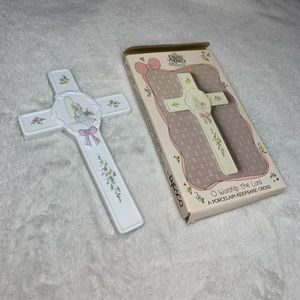 Precious Moments Porcelain Cross New In Box